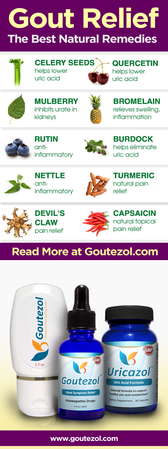 The Best All-Natural Remedies for Gout