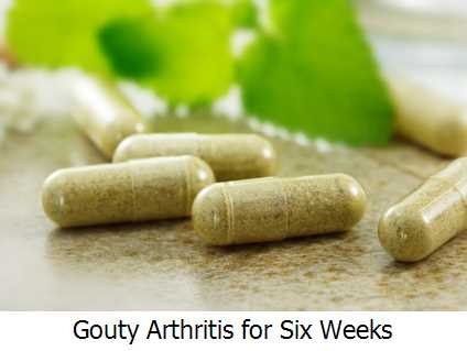 Gouty Arthritis for Six Weeks