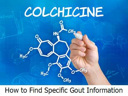 How to Find Specific Gout Information